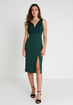 WAL G. - V NECK MIDI - Shift dress - green
