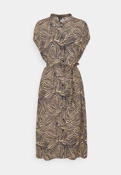 Vero Moda - VMGEA CAP CALF DRESS  - Blusenkleid - brown