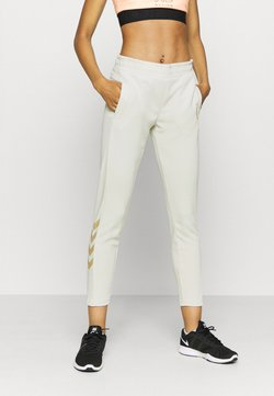 Hummel - HMLZIBA TAPERED PANTS - Verryttelyhousut - bone white