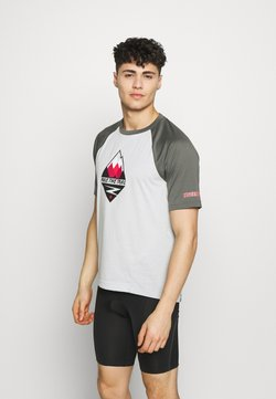 Zimtstern - PUREFLOWZ MEN - T-Shirt print - glacier grey/gun metal/cyber red