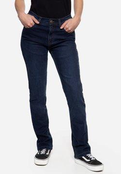 Queen Kerosin - MOTORRAD KUSTOMBUILT - MOTOR GEAR - Jeans Straight Leg - dunkelblau