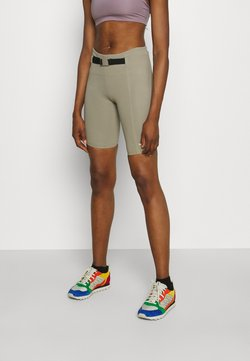 The North Face - WAIST PACK SHORT - Tights - mineral grey