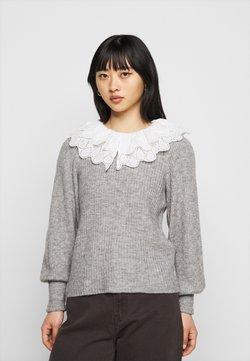 Object Petite - OBJGISELLE  - Sweter - medium grey melange