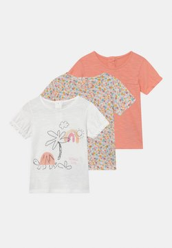 Marks & Spencer London - BABY TORTOISE 3 PACK - T-shirt con stampa - coral/off-white