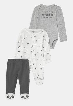 Carter's - PANDA SET UNISEX - Stoffhose - white/black