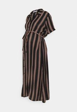Glamorous Bloom - SHORT SLEEVE MIDI DRESS WITH BELT - Blusenkleid - dusty peach/black