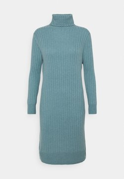pure cashmere - TURTLENECK DRESS - Neulemekko - steel blue
