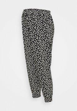 Dorothy Perkins Maternity - SPOT PRINT UNDERBUMP - Pantalones - black
