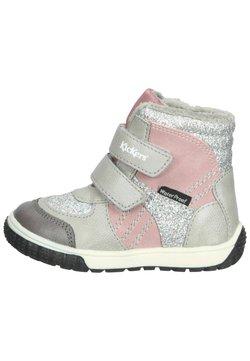 Kickers - Snowboot/Winterstiefel - gris glitter rose