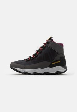 Columbia - FLOWBOROUGH MID - Hiking shoes - dark grey/bright gold