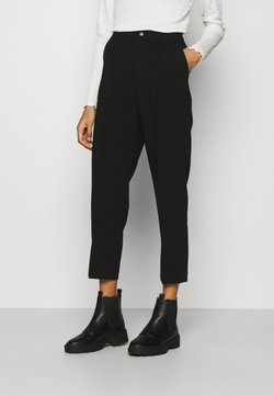 Anna Field - BASIC BUSSINESS PANTS WITH PINTUCKS  - Spodnie materiałowe - black