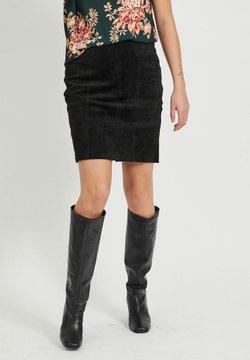 Vila - Leather skirt - black