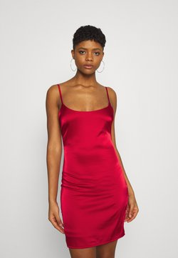 Missguided - STRETCH BODYCON MINI DRESS - Juhlamekko - red