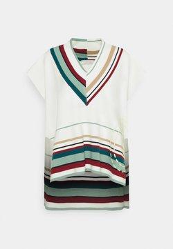 Trussardi - SLEEVELESS DEEP V NECK - T-Shirt print - marshmallow