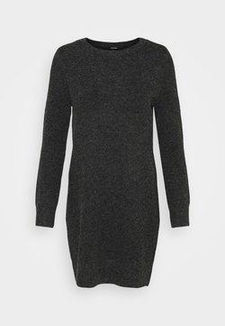 Vero Moda Petite - VMDOFFY O NECK DRESS PETIT - Robe pull - black/melange