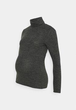 Pieces Maternity - PCMPAM HIGH NECK - Jumper - dark grey melange