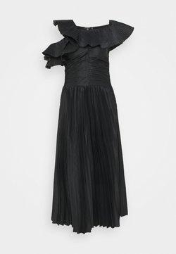 Missguided Tall - ONE SHOULDER PLEATED SKIRT DRESS - Robe de soirée - black