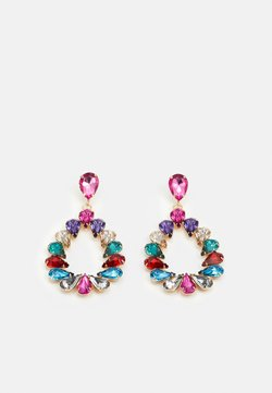 Pieces - PCPINKA EARRINGS - Pendientes - gold coloured/multi