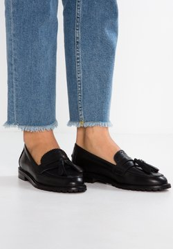 Anna Field - LEATHER FLAT SHOES - Instappers - black