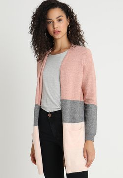 ONLY - ONLQUEEN LONG  - Gilet - misty rose/mottled grey melange/cloud pink melange