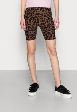 Abercrombie & Fitch - BIKE SHORT - Short - black/leopard