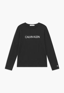Calvin Klein Jeans - INSTITUTIONAL  - Långärmad tröja - black