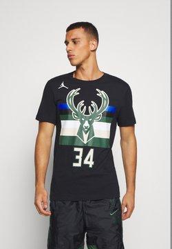 Nike Performance - NBA MILWAUKEE BUCKS GIANNIS ANTETOKOUNMPO NAME & NUMBER TEE - T-shirt print - black
