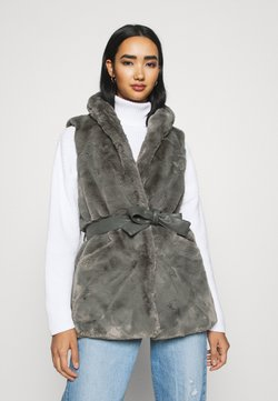 ONLY - ONLOLLIE WAISTCOAT - Smanicato - charcoal gray