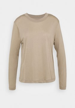 Casall - EASE CREW NECK - Camiseta de manga larga - comfort grey
