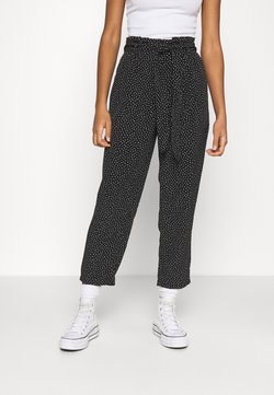Monki - SADIE POLY TROUSERS - Kangashousut - black