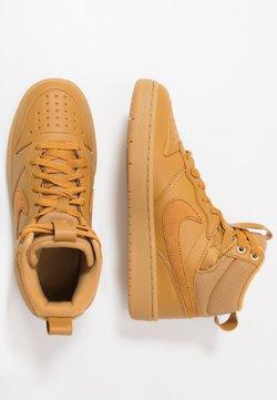 Nike Sportswear - COURT BOROUGH MID  - Korkeavartiset tennarit - wheat/medium brown