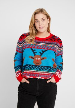 ONLY Carmakoma - CARREINDEER  - Pullover - mars red