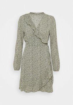 ONLY - ONLCARLY WRAP SHORT DRESS - Freizeitkleid - seagrass