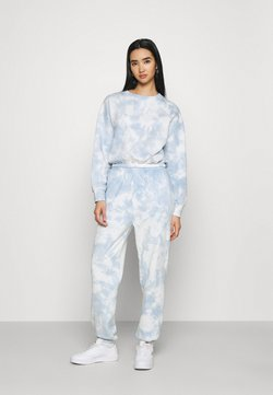 Even&Odd - SWEAT & JOGGER TIE DYE SET - Sweatshirt - blue