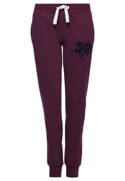 Superdry - SUPERDRY COLLEGIATE SCRIPTED  - Jogginghose - wine