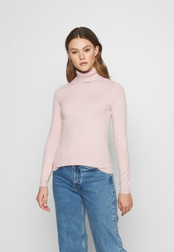 Vero Moda - VMHAPPINESS ROLLNECK  - Jersey de punto - sepia rose