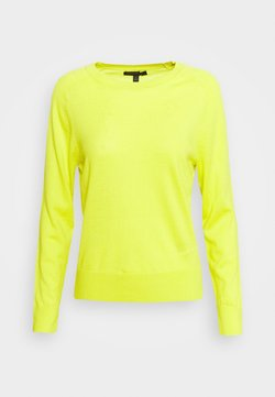 Banana Republic - CREW SOLIDS - Sweter - lively chartreuse