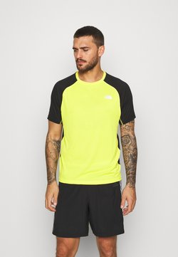 The North Face - MENS AMBITION - Camiseta estampada - lemon/black