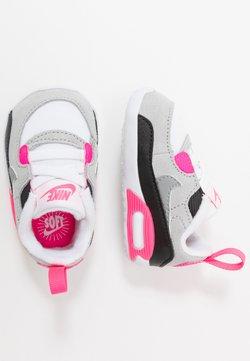 Nike Sportswear - NIKE MAX 90 CRIB - Obuwie do nauki chodzenia - white/particle grey/light smoke grey/hyper pink/black