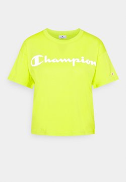 Champion - CREWNECK LEGACY - Printtipaita - neon yellow