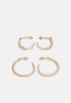 Pieces - PCJADA HOOP EARRINGS 2 PACK - Earrings - gold-colored/clear/green