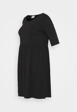 Mamalicious Curve - MLELNORA 2/4 SHORT DRESS - Vestito di maglina - black