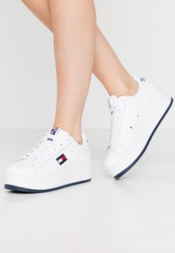 Tommy Jeans - ICONIC FLATFORM  - Sneakers laag - white