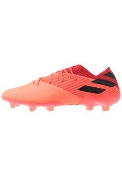 adidas Performance - NEMEZIZ 19.1 FG - Moulded stud football boots - signal coral/core black/red