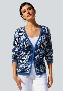 Alba Moda - Strickjacke - blau/off-white