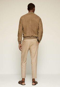 Mango - DREW-I - Leather jacket - beige