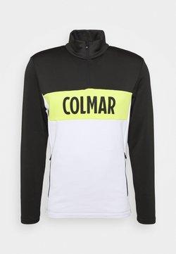 Colmar - Fleecepullover - white/black/lime