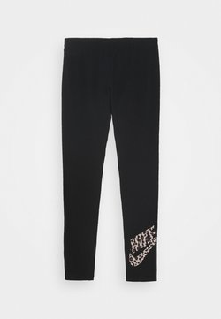 Nike Sportswear - FAVORITE - Leggings - black/fossil stone