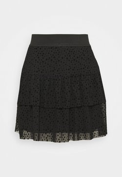 ONLY - ONLSANNA SHORT SKIRT  - A-Linien-Rock - black
