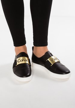 Calvin Klein - ILONA - Loaferit/pistokkaat - black